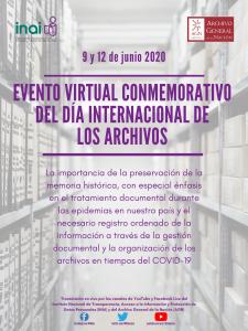 Evento Conmemorativo del día internacional de los archivos 2020