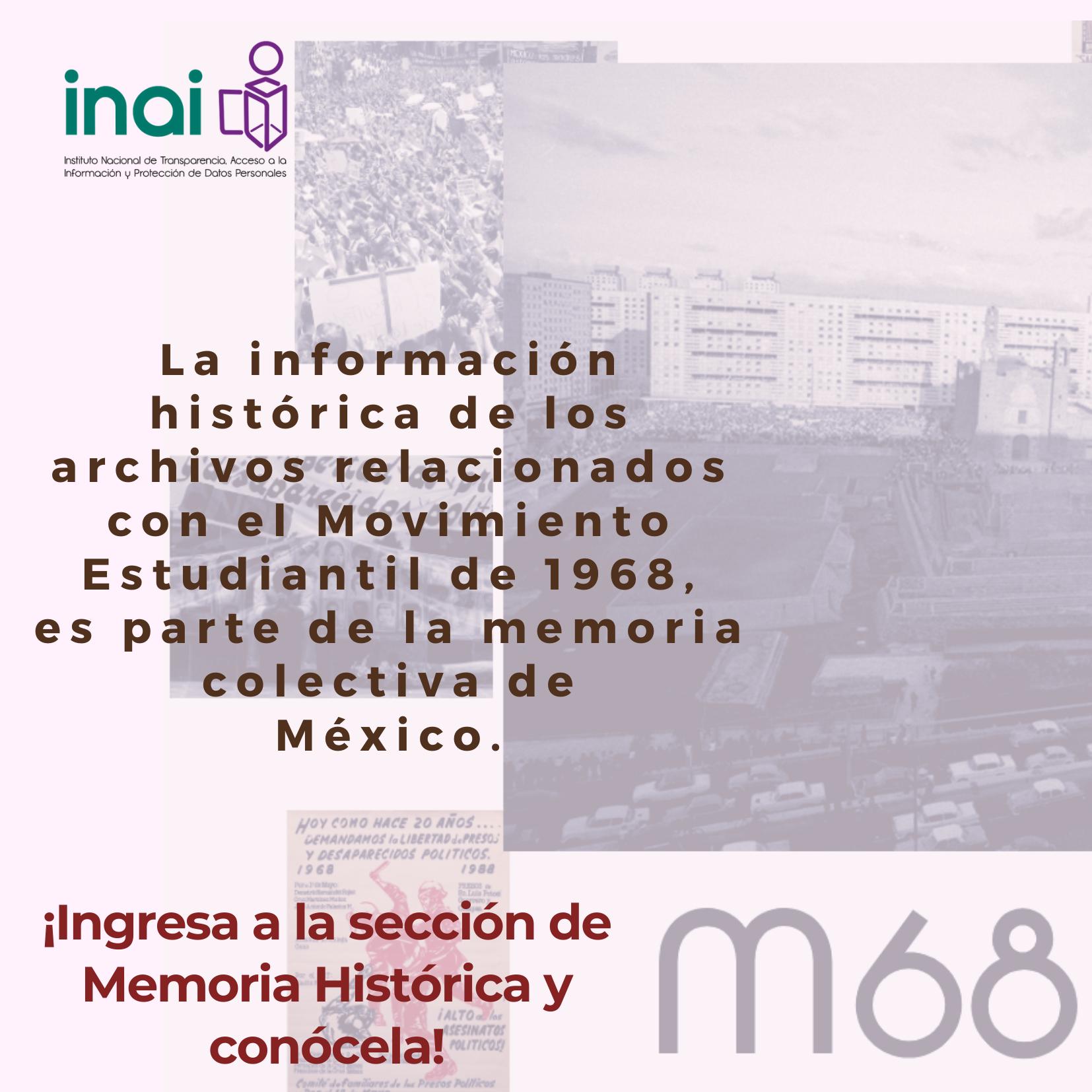 archivos relacionados con el Movimiento Estudiantil de 1968